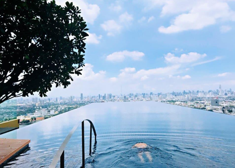 Sky infinity pool 天空无边泳池
