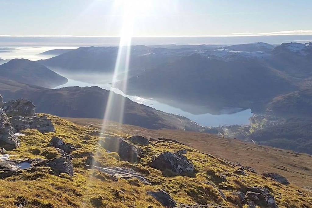 Loch Goil from the top of Ben Donich
