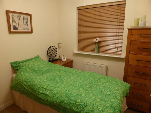Single bedroom and shared bathroom - Cardiff - Bed & Breakfast