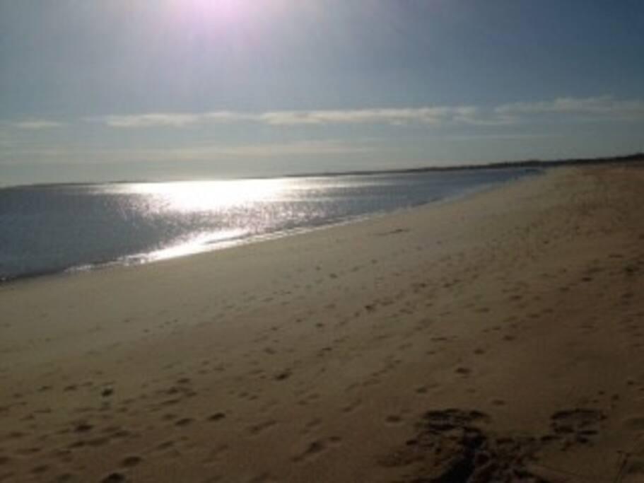 Beach. 7-min. walk