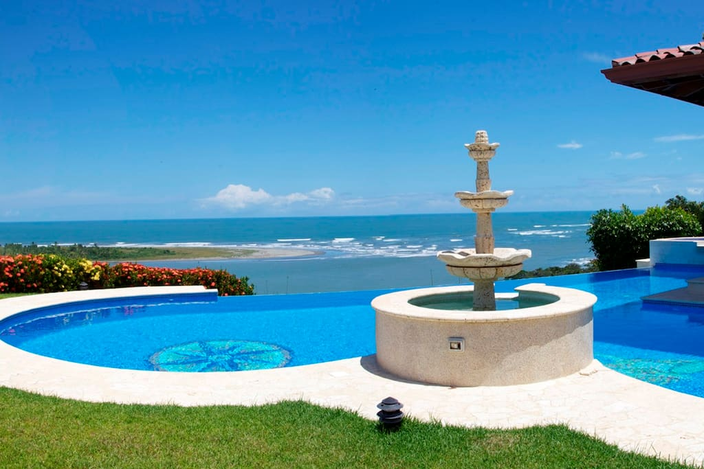 Pool and the View of the Pacific Ocean and Garza Island