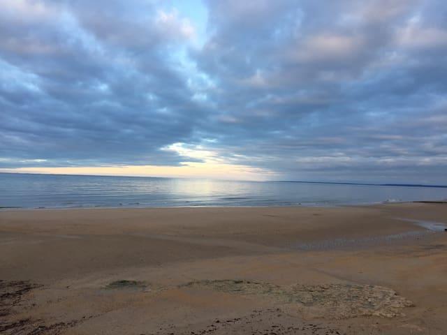 coucher de soleil à St Aubin/Mer