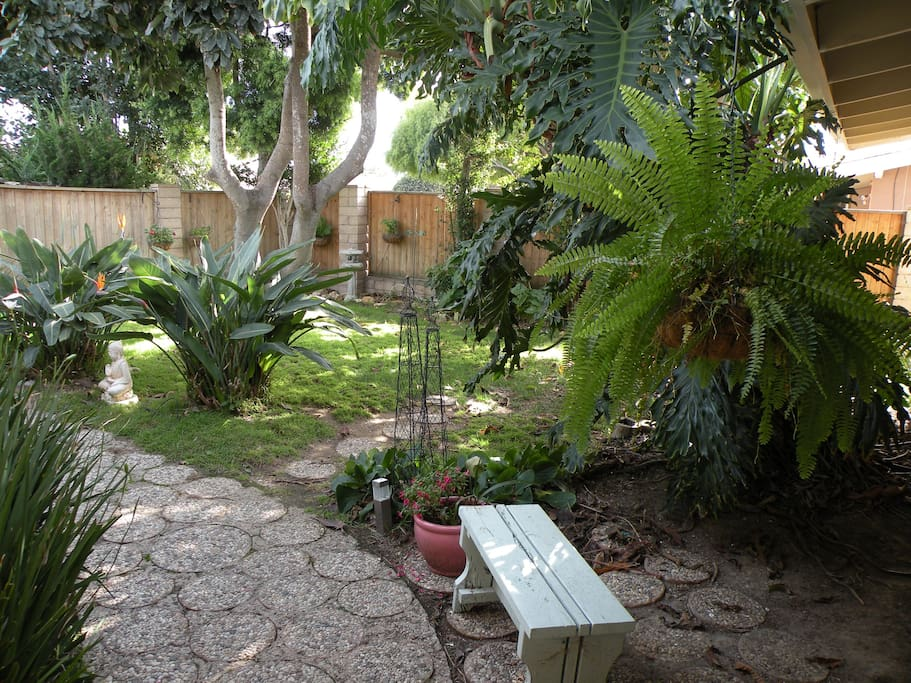 View of front courtyard from front door