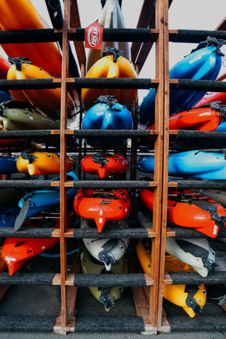 Kayaks at Dana Point Harbor