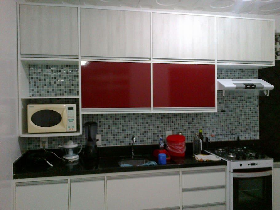 Cozinha com seu utensílios
