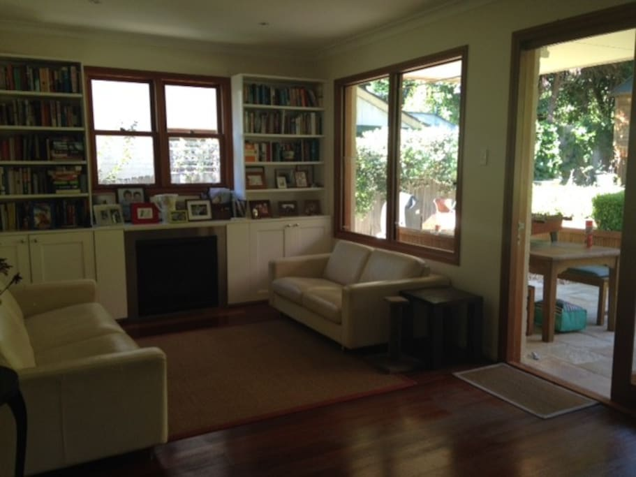 Open plan living/dining with direct access to the garden.