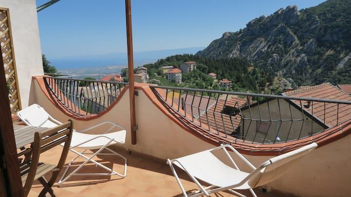 La Casa dell'Escursionista - stanza con terrazza