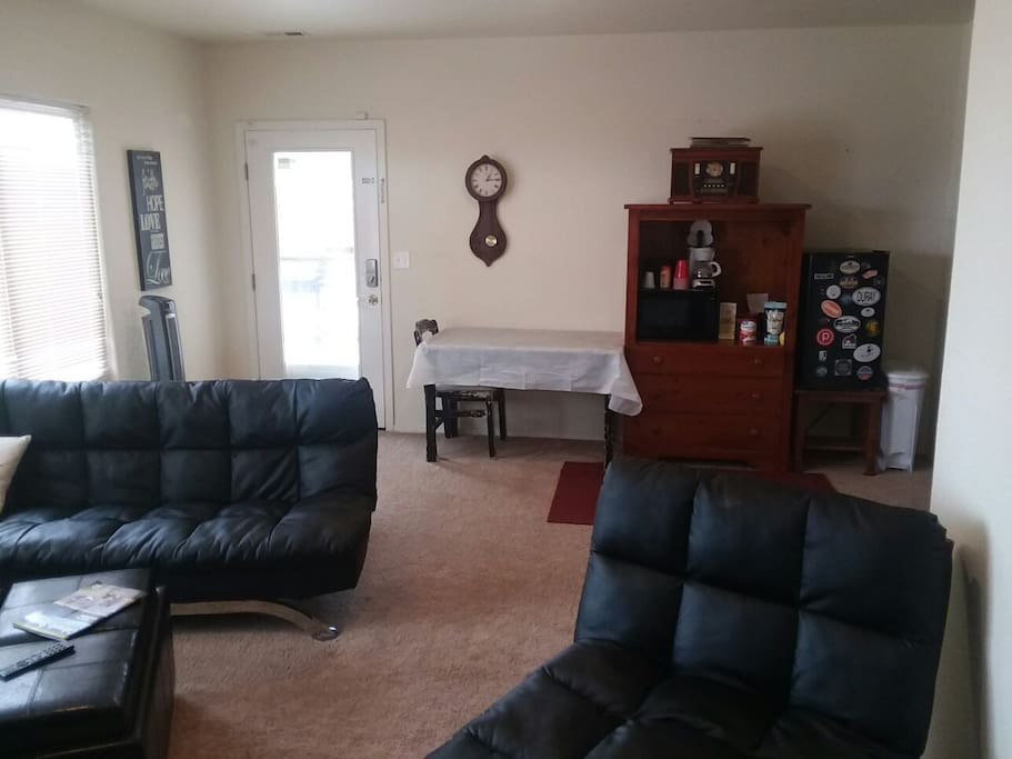 Living room and Micro Kitchen