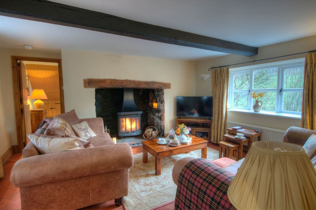 Beams, real fire and smart TV
