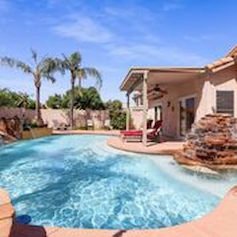 Heated Pool At Our Private Palms Vacation Home