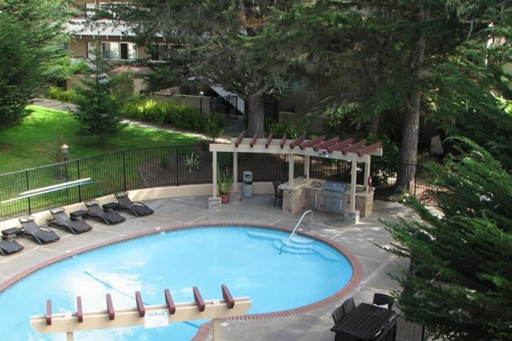 Enjoy our pool, spa and BBQ area