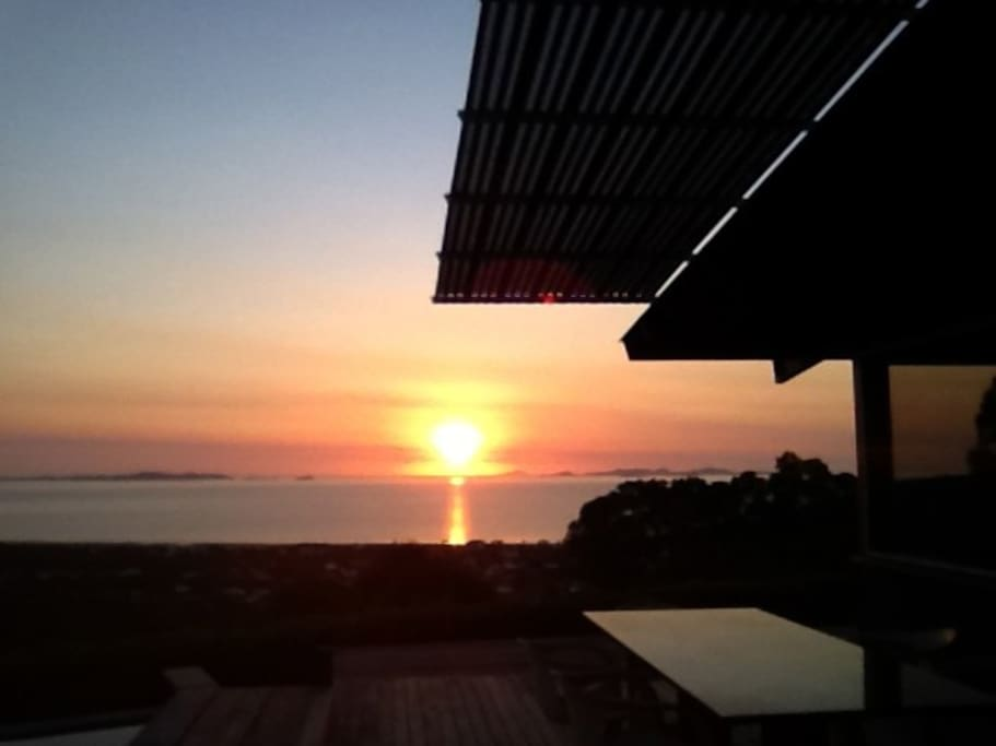 Watch the sunrise from bed or having a quiet cuppa on the pool deck.