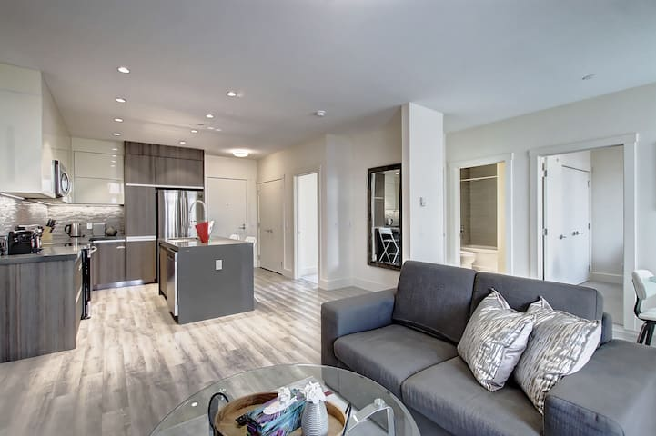 Luxury 2-bedroom condo near downtown on Centre St.