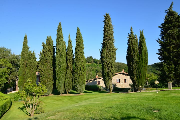 Agritourism in Chianti with pool  - Greve in Chianti - Lejlighed