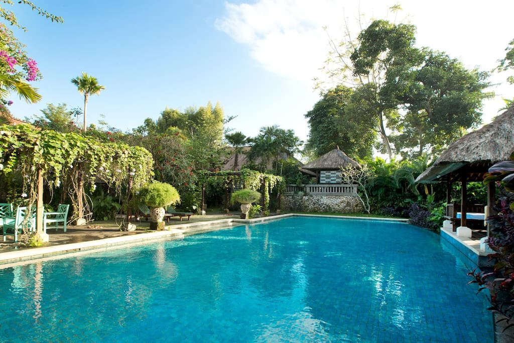 Our wide and spacious outdoor swimming pool.