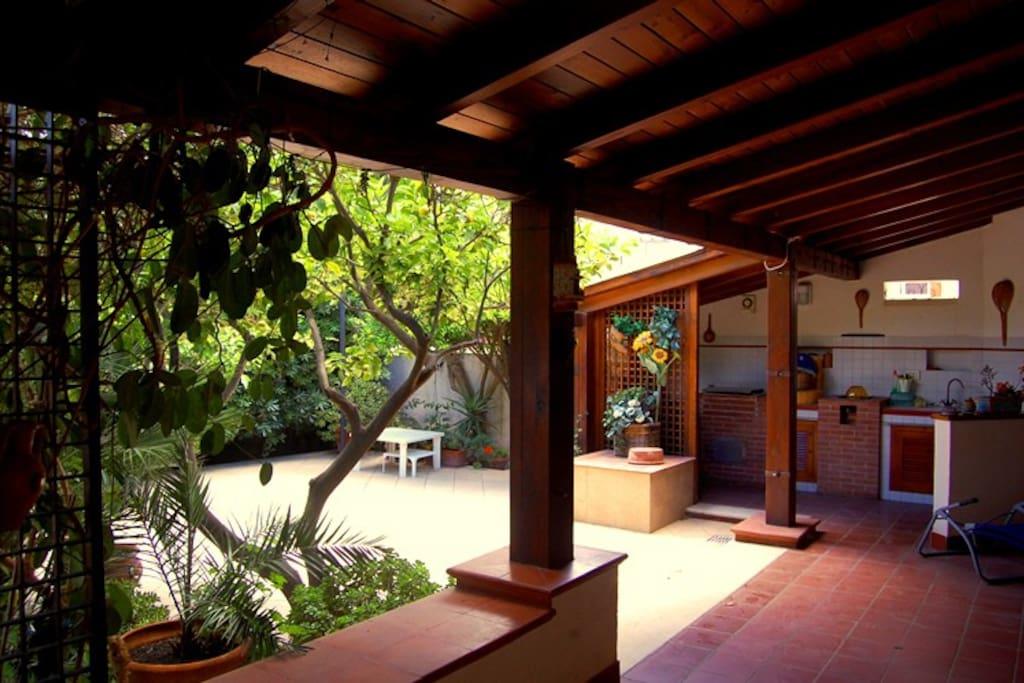 Veduta veranda esterna