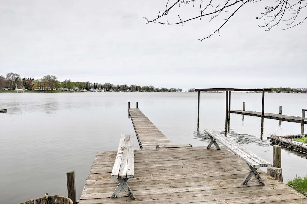 Enjoy easy bay and lake access. Tie your boat up to this deep water dock.