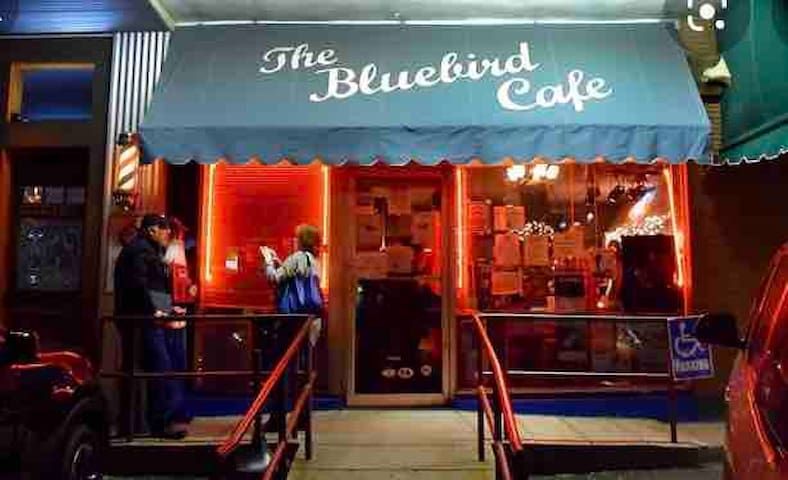 The Bluebird! Just down the street.