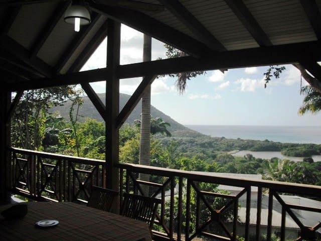 villa avec vue sur mer et plage - Deshaies - Talo