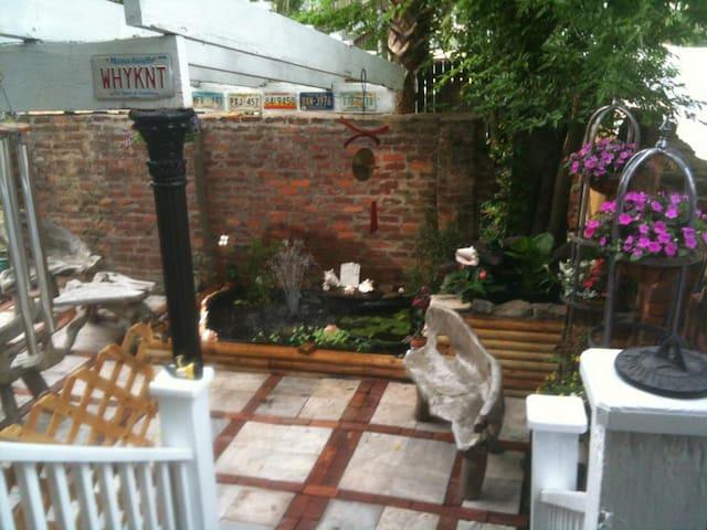Rear Garden for Tea or Cocktails