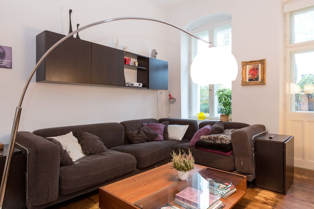 your room: super comfortable couch