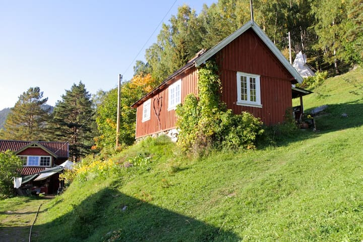 You find little red cabins in fairy tales, and on Skifterud ; )