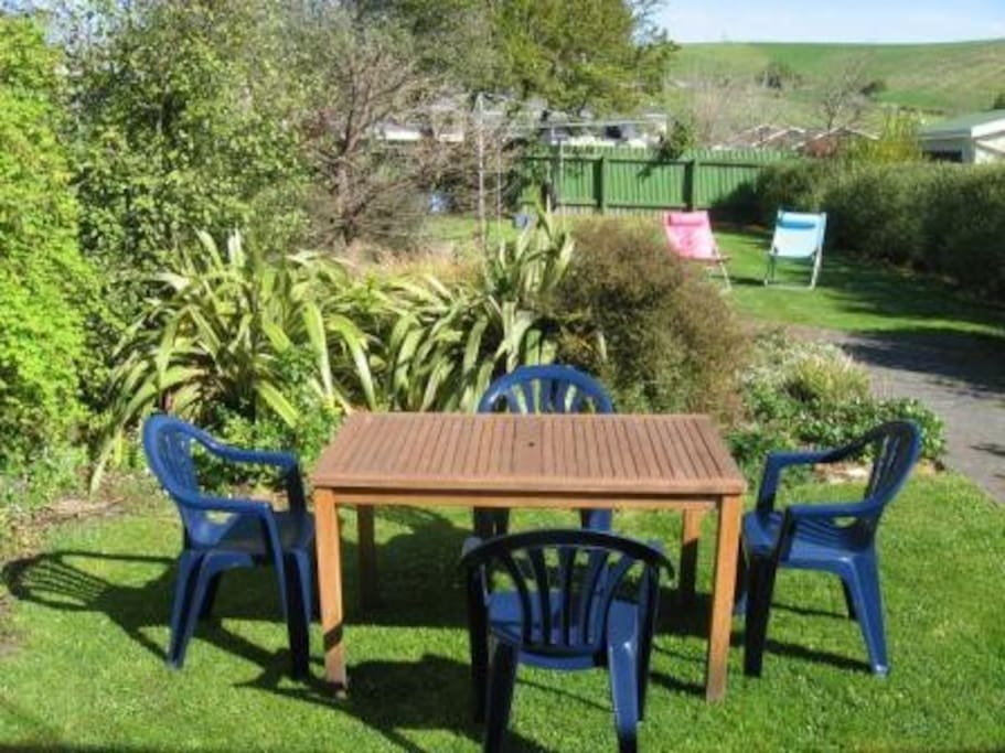 BBQ provided for garden area which is fully fenced and safe for children