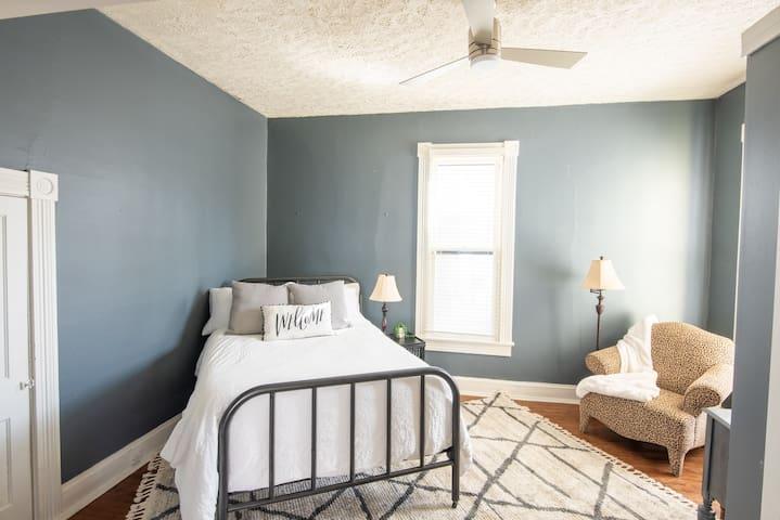 Cozy guest bedroom.