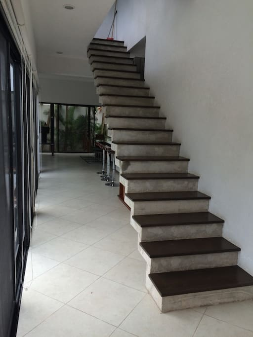 Serpent-like concrete staircase