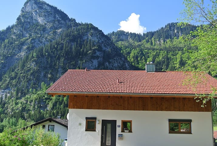 Panorama Views of the Alps - Oberammergau - House