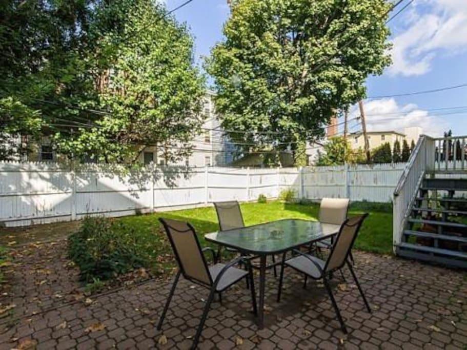 Access to semi-private backyard.