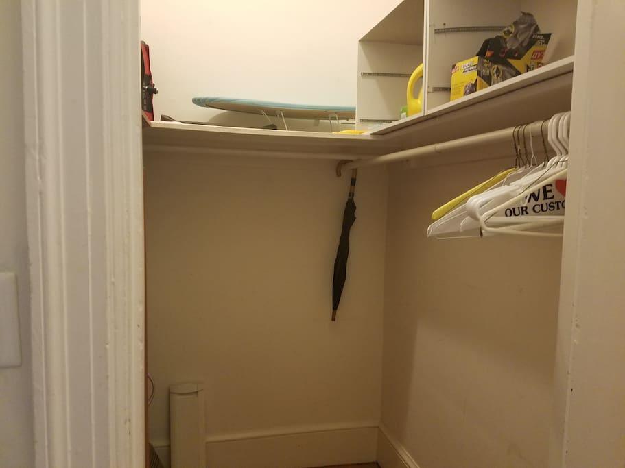 Walk-in closet. Great storage.