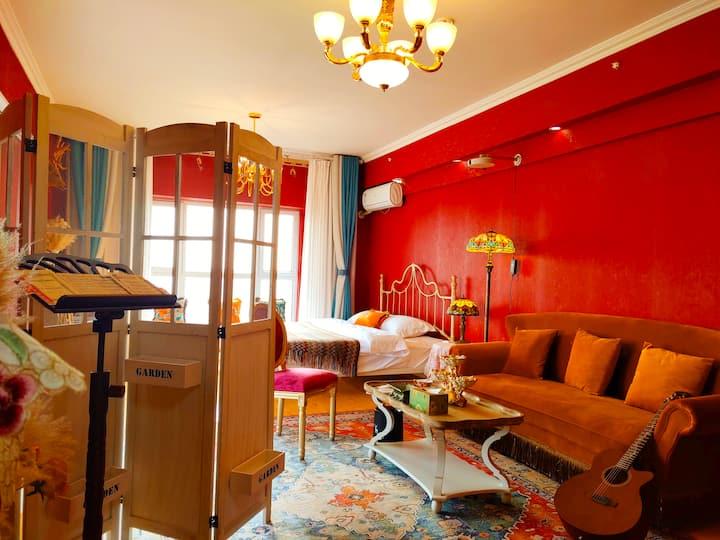 【波斯古娜】布达佩斯小屋 美式复古温馨大床房