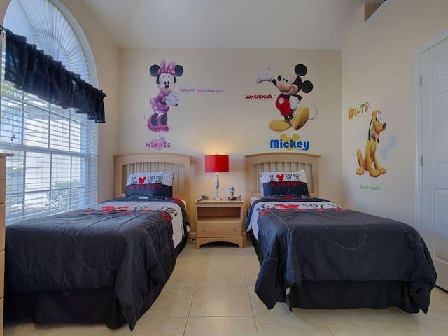 1st Floor Disney Themed Twin Bedroom