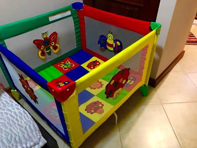 Playpen available for the baby