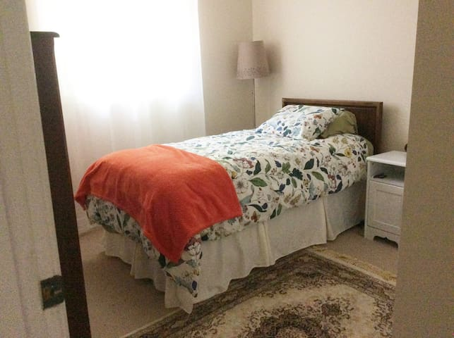 Single Bed - Bedroom 1. Cozy and accommodating.