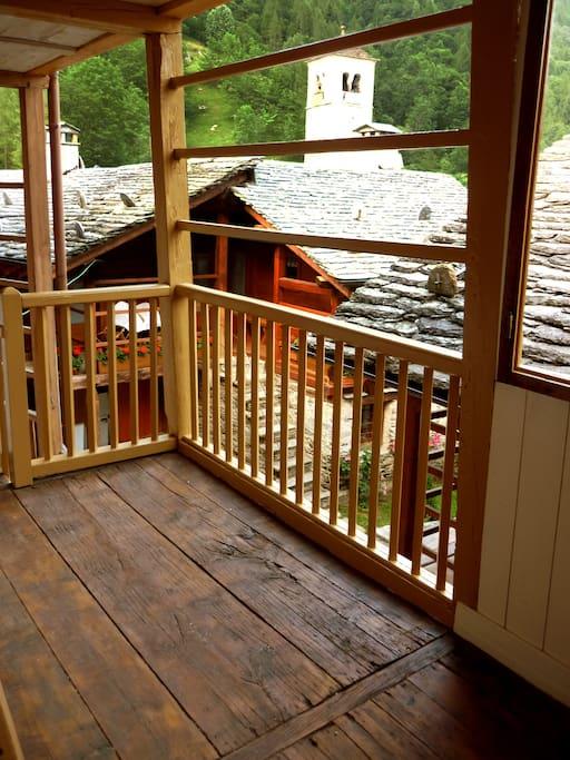 Entrata appartamento con tipica Lobbia/terrazzo