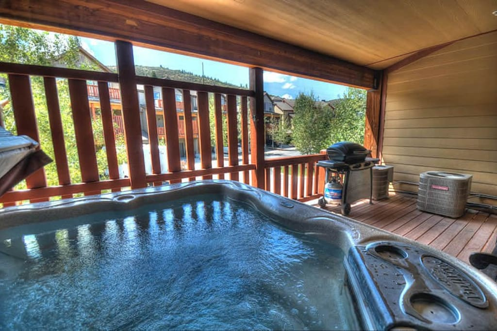 Private Hot Tub and Gas Grill - Located just off the Kitchen