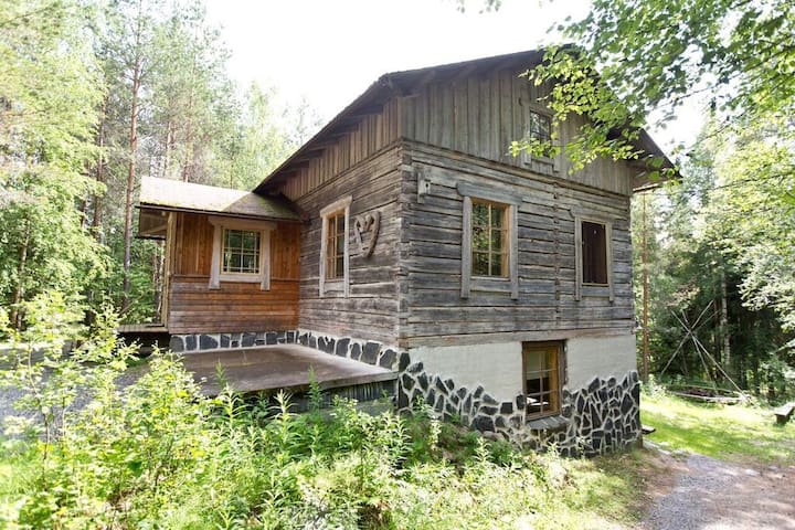 A log cabin near Seitseminen National Park