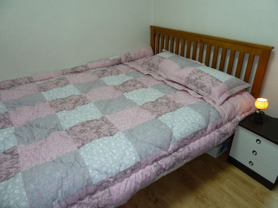 a double bed in the 3rd bedroom.