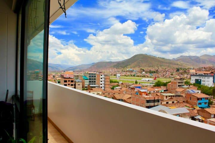 Habitación doble en 7mo piso con vista maravillosa