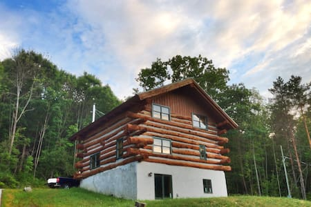 Custom Log Home in Naples!