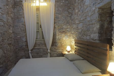 stone house in medieval village,gr - Kalamoti