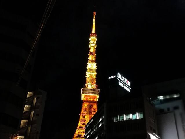 Serene room near Tokyo Tower and Roppongi