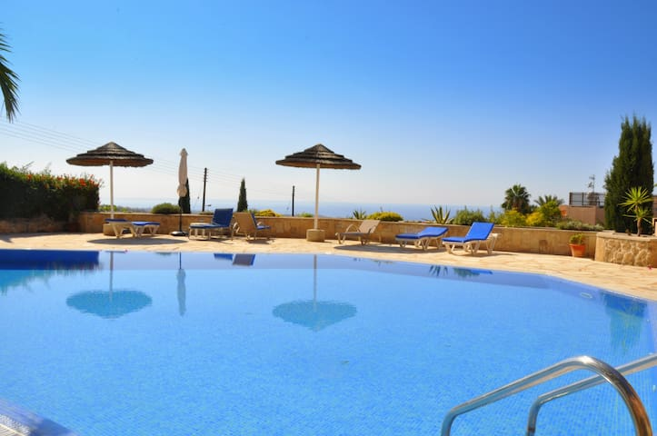 Sea view apartment and pool- Paphos - Tala - Flat