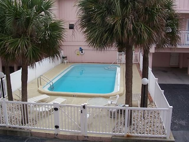 Our newly resurfaced heated pool