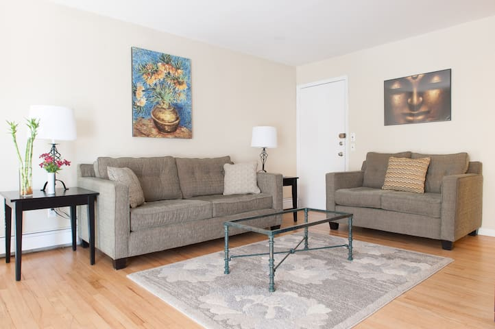 NYC/Times Square 10 mins away 3BR/ FREE PARKING - Weehawken - Flat