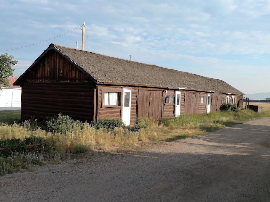 Northwest View of Cabins