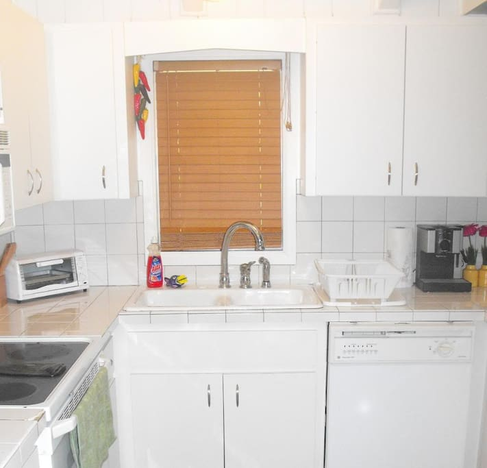 Kitchen is fully equipped to make you stay as comfortable  as your own home