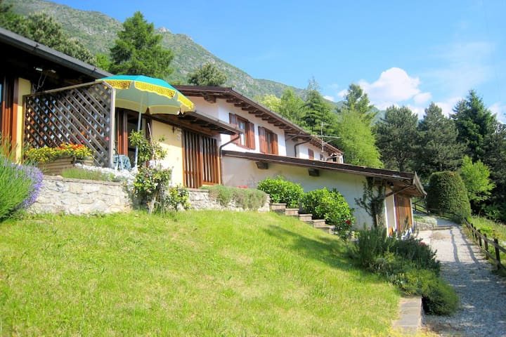 On the banks of the Idro lake in a quiet location.